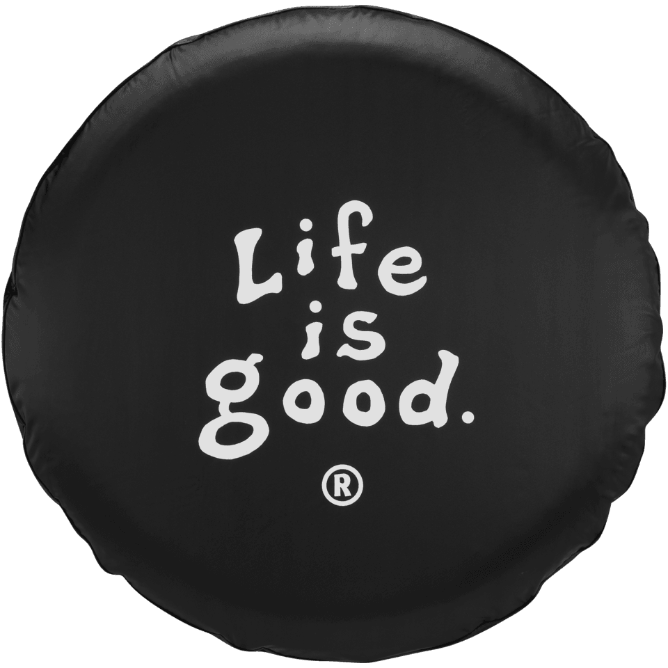 Life is good Tire Cover Coin, Black