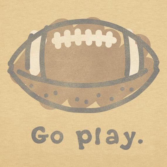Toddler Go Play Football Crusher Tee