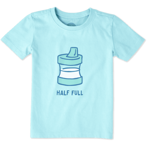 Toddler Half Full Sippy Cup Tee