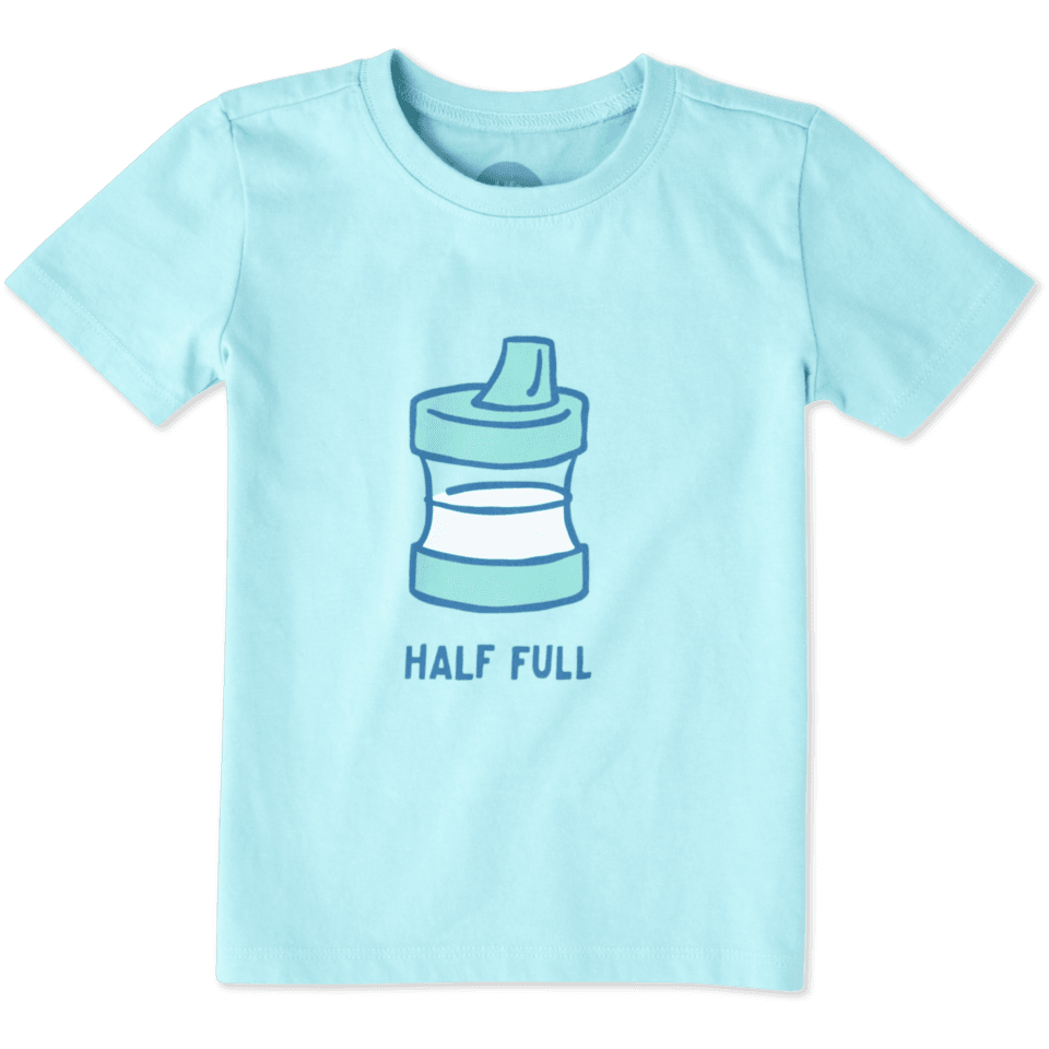 Toddler Half Full Sippy Cup Crusher Tee 48028-3T