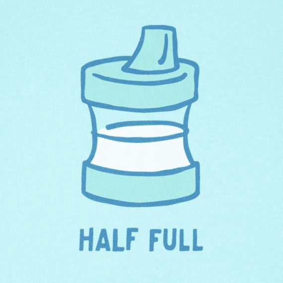 Toddler Half Full Sippy Cup Crusher Tee