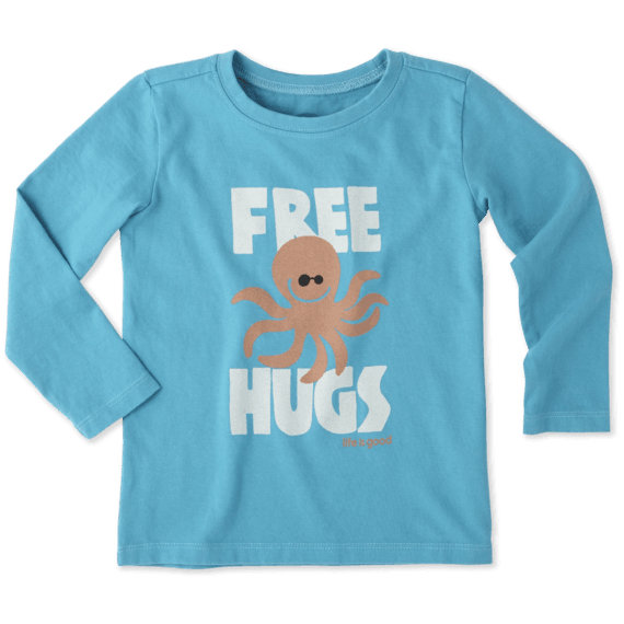 Toddlers Free Hugs Long Sleeve Crusher Tee