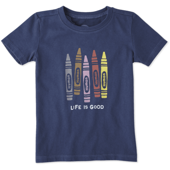 Toddlers Human Crayons Crusher Tee