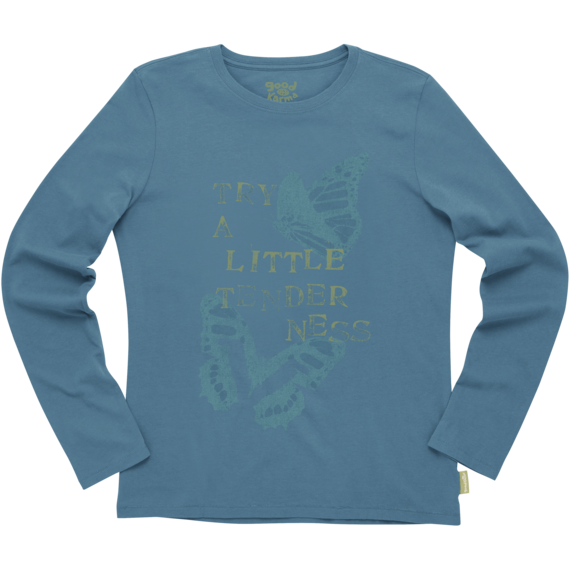Women's Organic Try A Little Tenderness Long Sleeve Tee