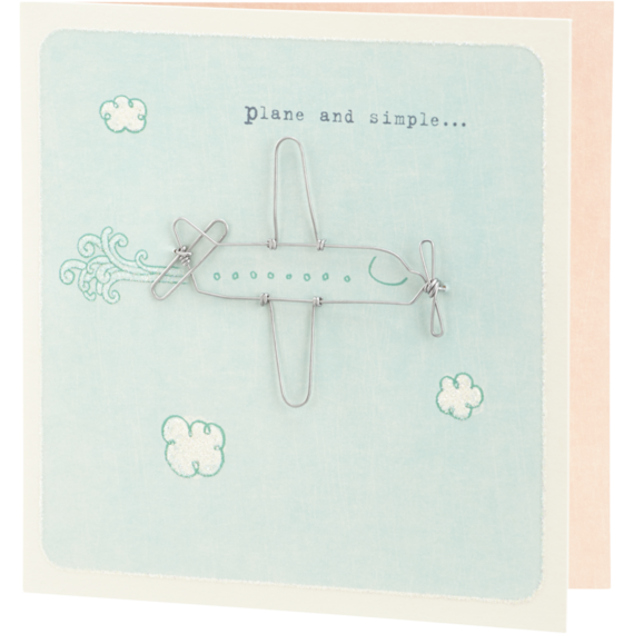Wire Airplane Card