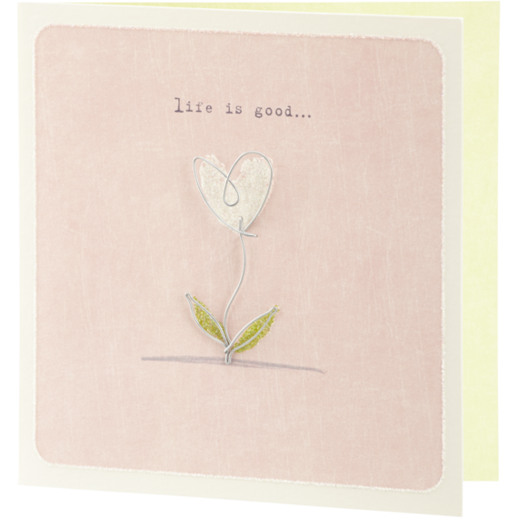 Wire Flowering Heart Card