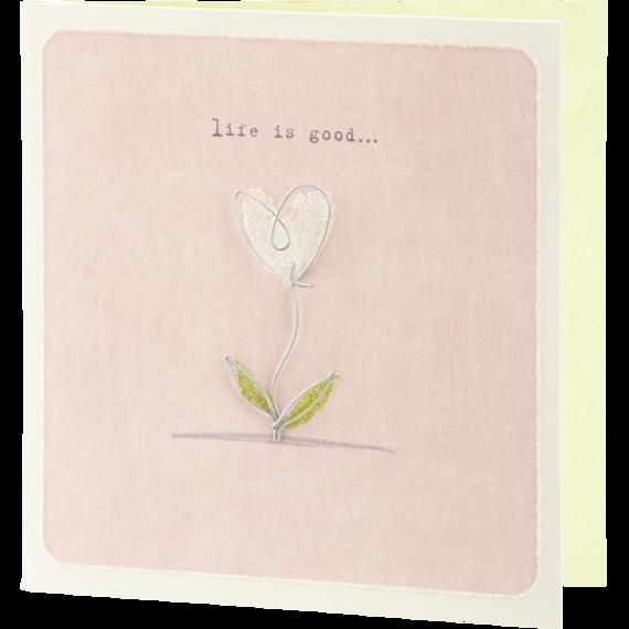 Wire Flowering Heart Card