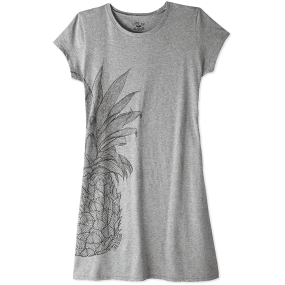 Women's Pinapple T-Shirt Dress