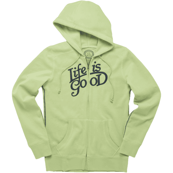 Women's Life is good All Good Zip Hoodie