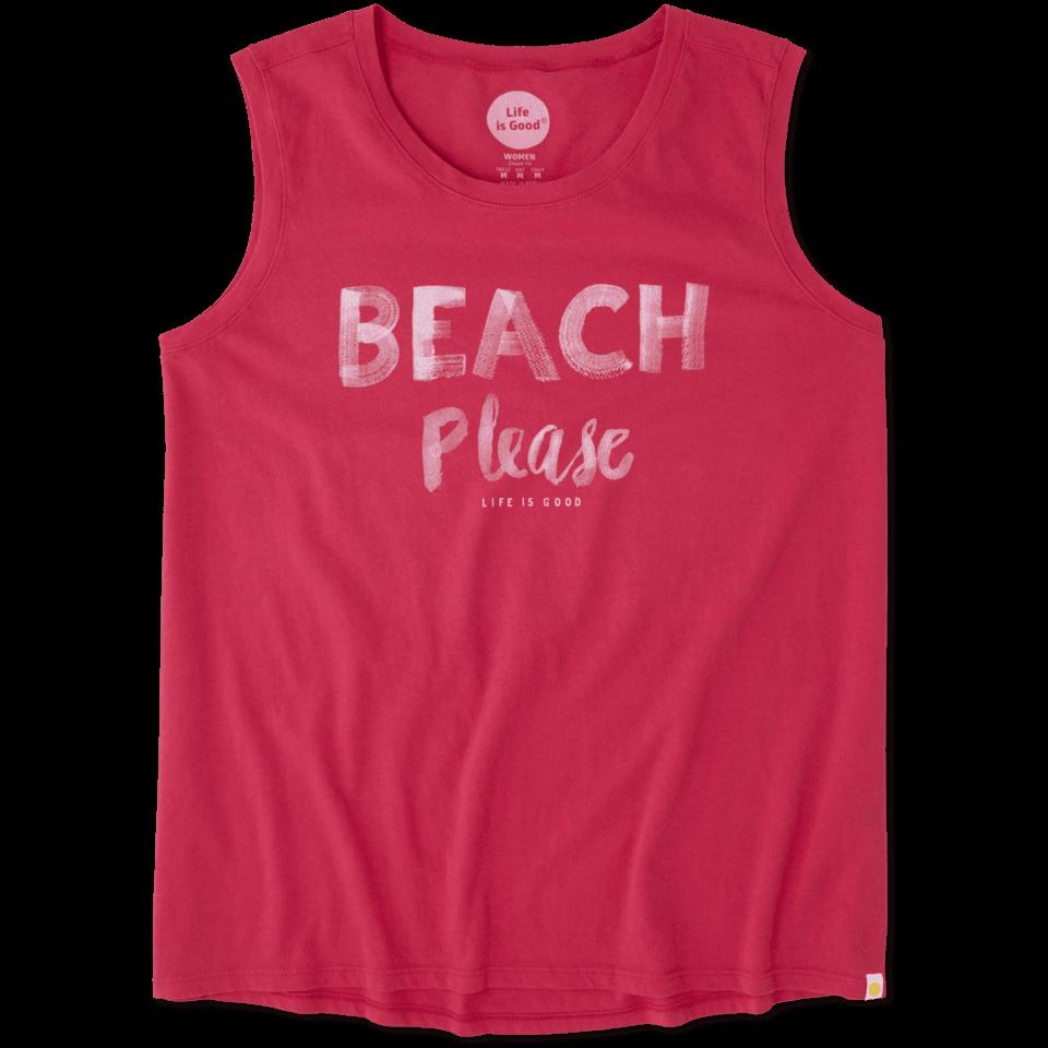 Womens Beach Please Muscle Tee