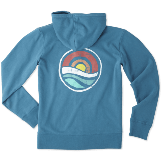 Women's Circle Ocean Go-To Zip Hoodie