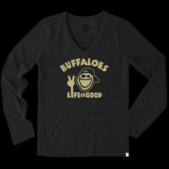 Women's Colorado Buffaloes Peace Jake Long Sleeve Cool Vee