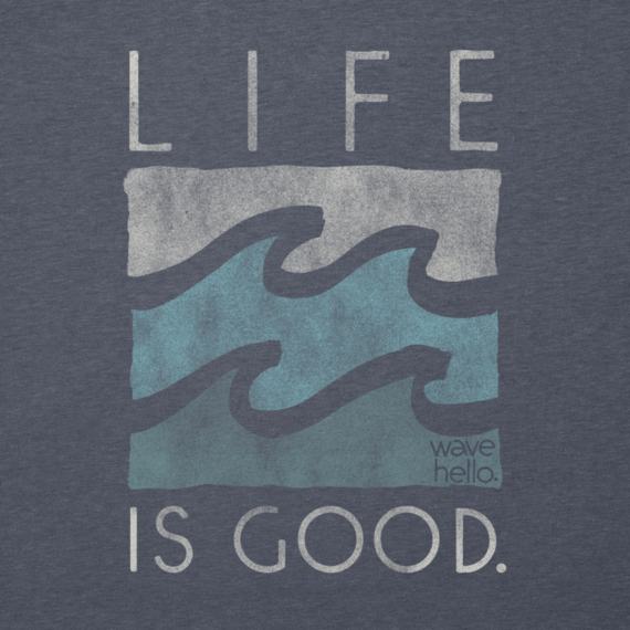 Women's Life is good Waves Cool Tee
