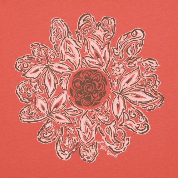 Women's Flower Creamy Dolman Tee
