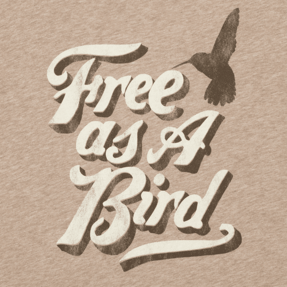 Women's Free as a Bird Long Sleeve Creamy Tee