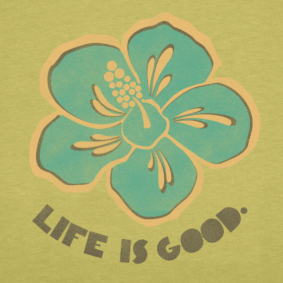 Women's Life is good Hibiscus Creamy Tee
