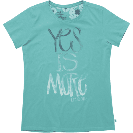 Women's Yes Is More Creamy Tee