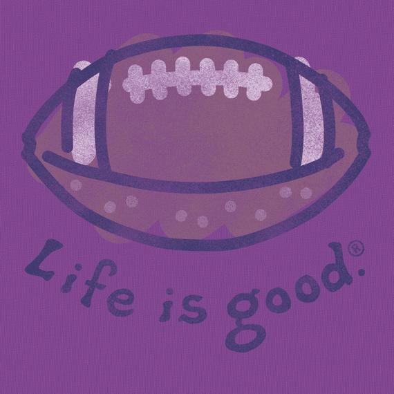 Women's Life is good Football Crusher Tee