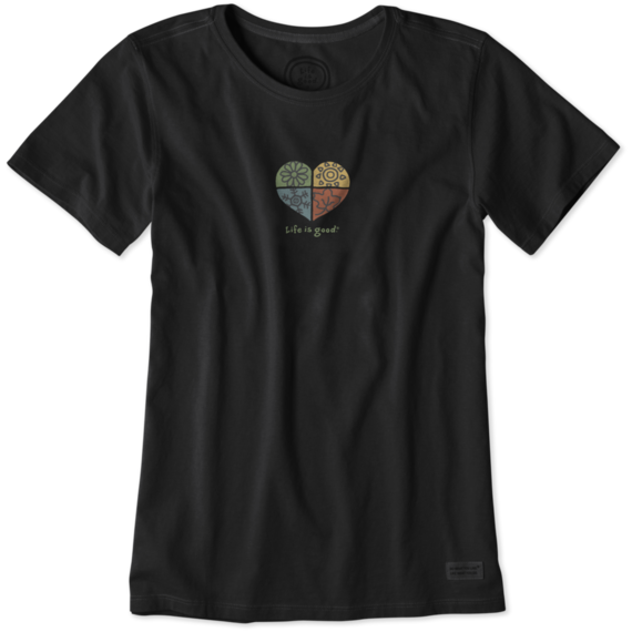 Women's Heart Four Seasons Crusher Tee