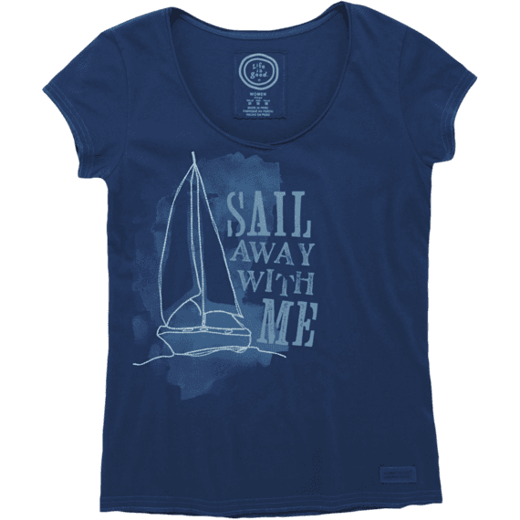 Women's Sail Away With Me Lightweight Crusher Vee