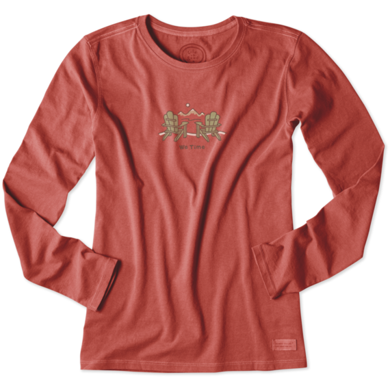 Women's We Time Long Sleeve Crusher Tee