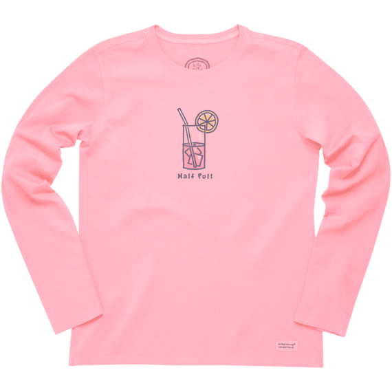 Women's Half Full Long Sleeve Crusher Tee
