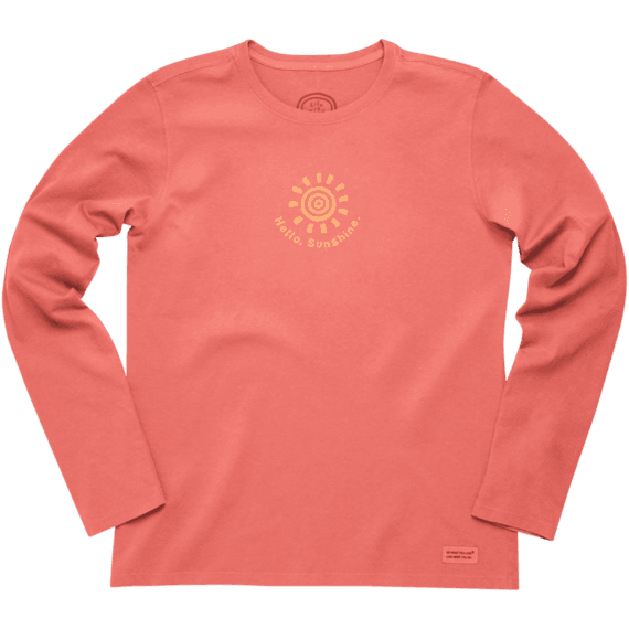 Women's Hello Sunshine Long Sleeve Crusher Tee