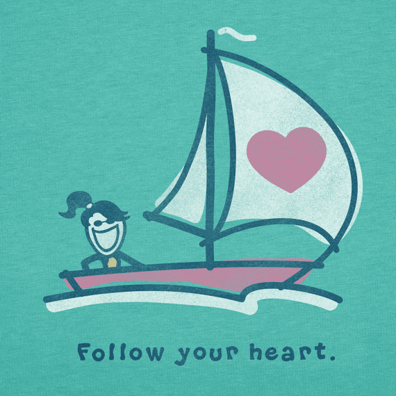 Women's Follow Your Heart Long Sleeve Crusher Tee