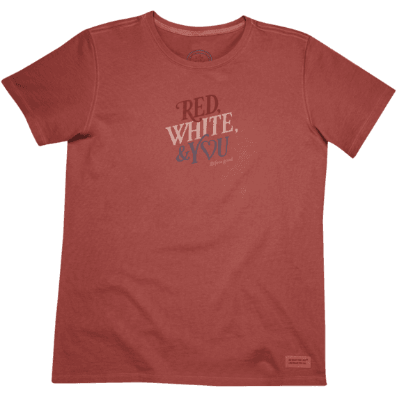 Women's Red, White, & You Crusher Tee