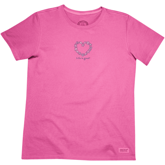Women's Sea Shells Heart Crusher Tee