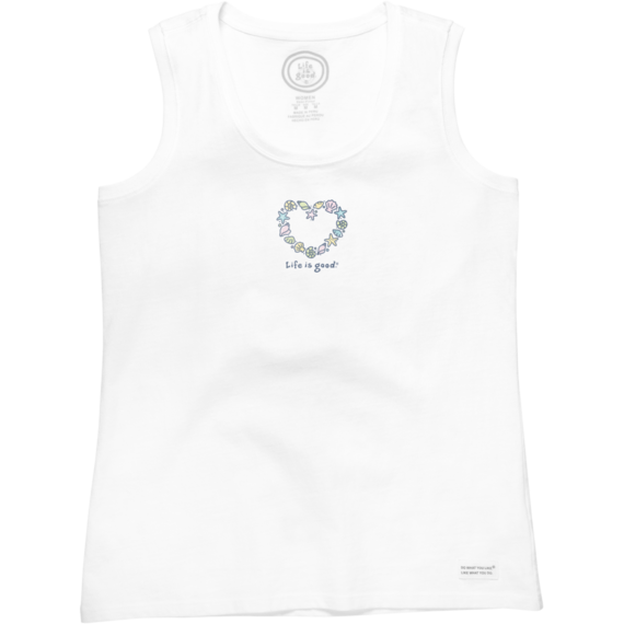 Women's Sea Shell Heart Sleeveless Crusher