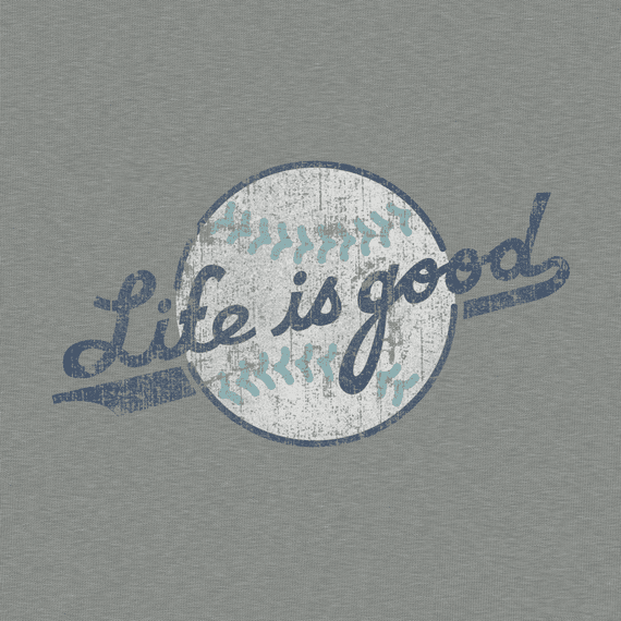Women's Life is good Softball Crusher Tee