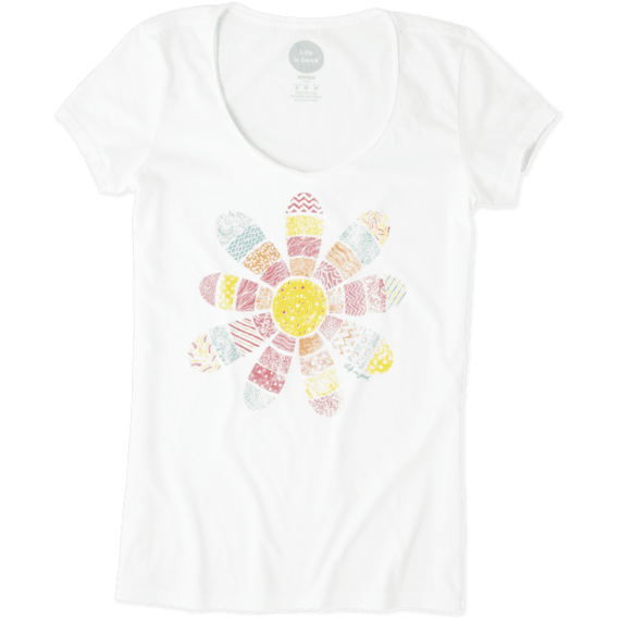 Women's Daisy Patchwork Smooth Tee