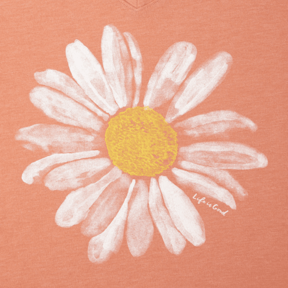 Women's Daisy Watercolor Cool Vee