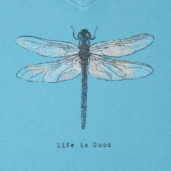 Women's Dragonfly Long Sleeve Crusher Vee