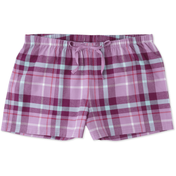 Women's Dusty Orchid Plaid Classic Sleep Boxer
