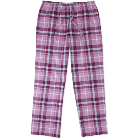 Women's Dusty Orchid Plaid Classic Sleep Pant