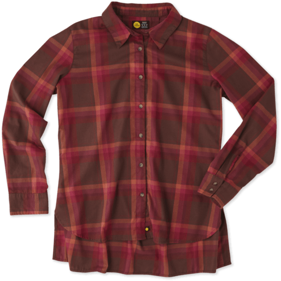 Women's Balsam Earthy Brown Grown Plaid Shirt