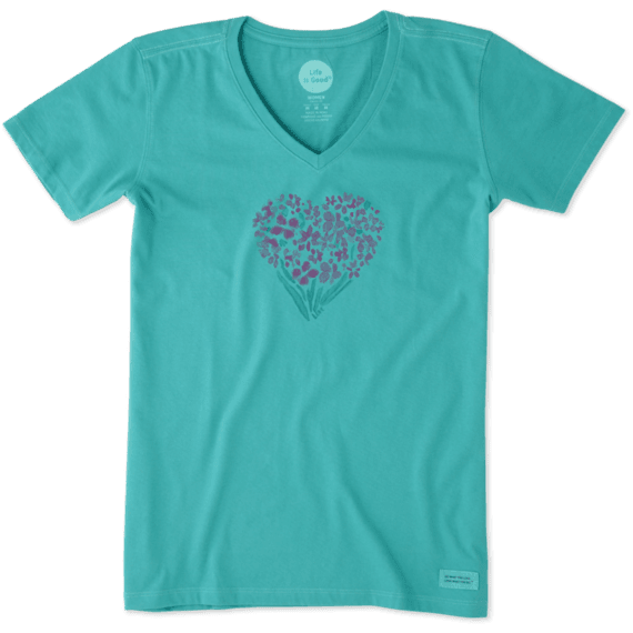 Women's Floral Heart Crusher Vee