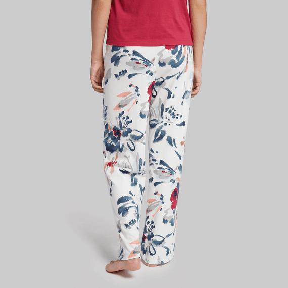 Women's Floral Jersey Sleep Pants