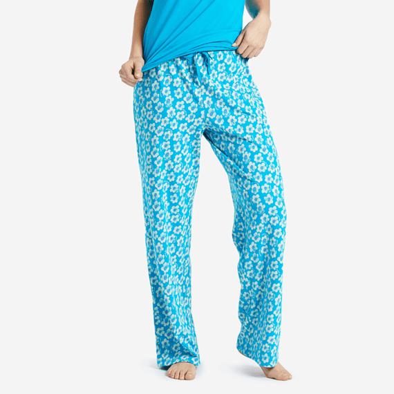 Women's Flowers Jersey Sleep Pants