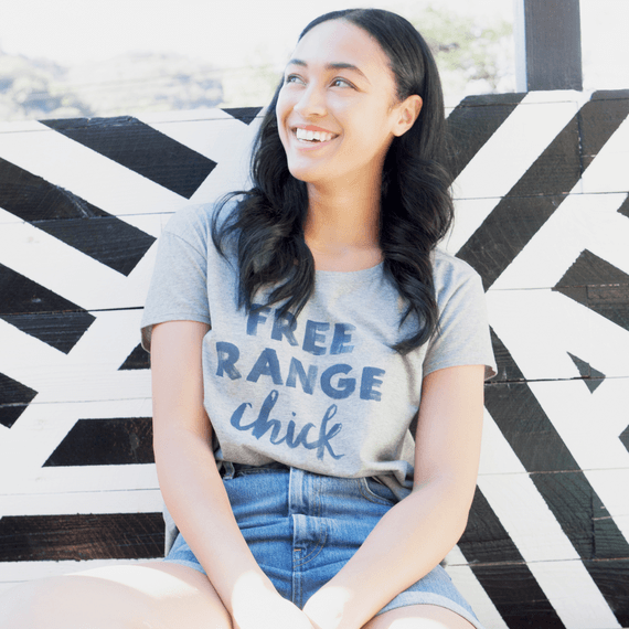 Women's Free Range Chick Breezy Tee