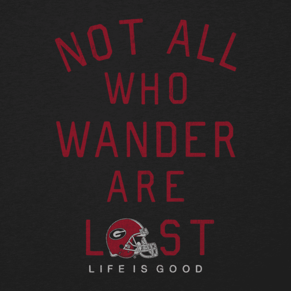Women's Georgia Not All Who Wander Long Sleeve Cool Vee