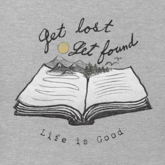 Women's Get Lost Get Found Book Crusher Tee