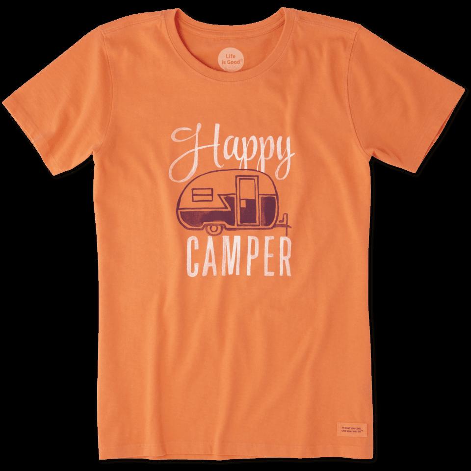 Womens Happy Camper Crusher Tee