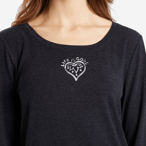 Women's Heart Mandala Supreme Scoop Pullover