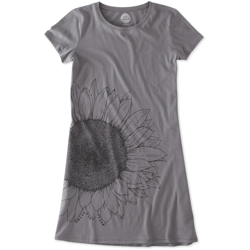 Womens Hello Sunflower T-shirt Dress