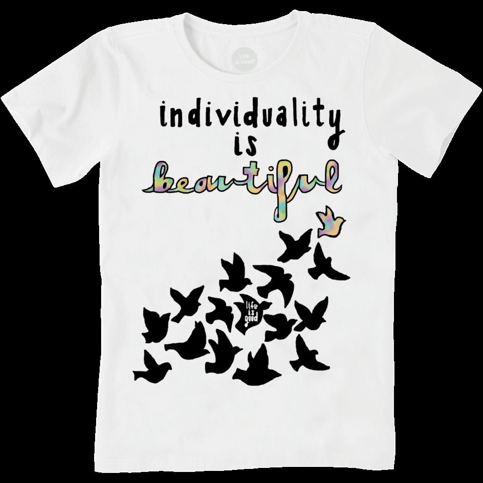 Womens Individuality Is Beautiful Art Contest Crusher Tee
