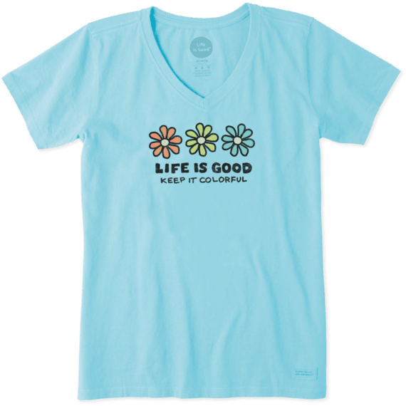 Women's Keep It Colorful Daisy Crusher Tee
