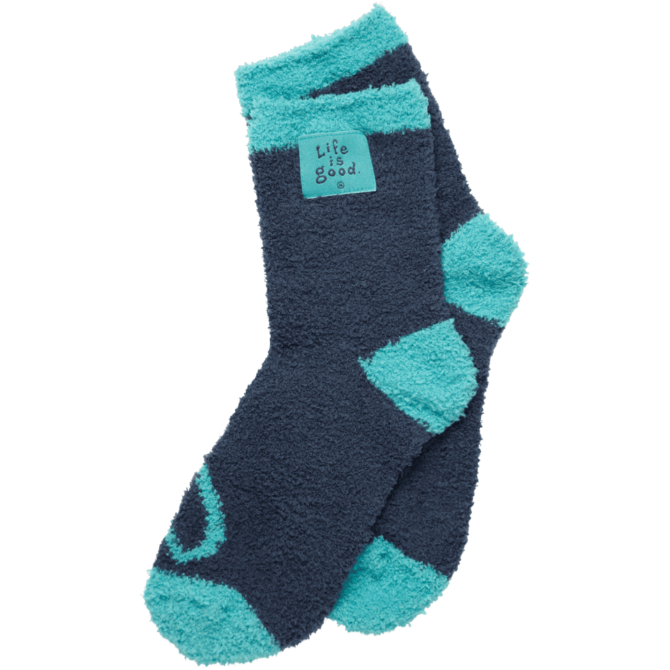 Life is good Women's Essential Snuggle Socks, Blue